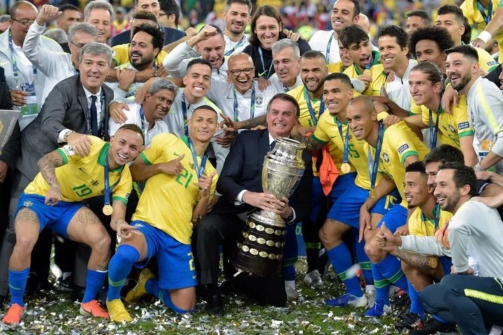 Jair Bolsonaro, with his image in a tailspin, clings to the Copa América to regain power.  Photo: AFP