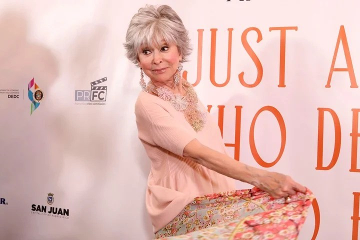 """The legendary actress presented her documentary on Friday, June 5 """"Rita Moreno: Just a Girl Who Decided to Go for It"""", at the centennial Alejandro Tapia y Rivera Theater in Old San Juan in Puerto Rico.  Photo EFE / Thais Llorca"""