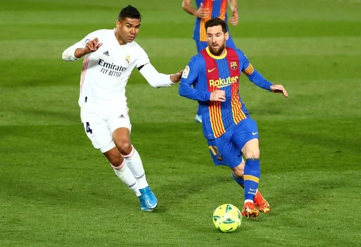 Messi and Casemiro, two of the captains of the South American teams, faced in the Spanish League.  Photo: REUTERS / Sergio Perez