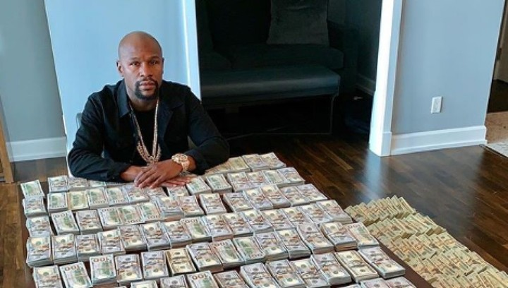 Floyd Mayweather always liked to show off his money.  For the fight he pocketed 100 million dollars.