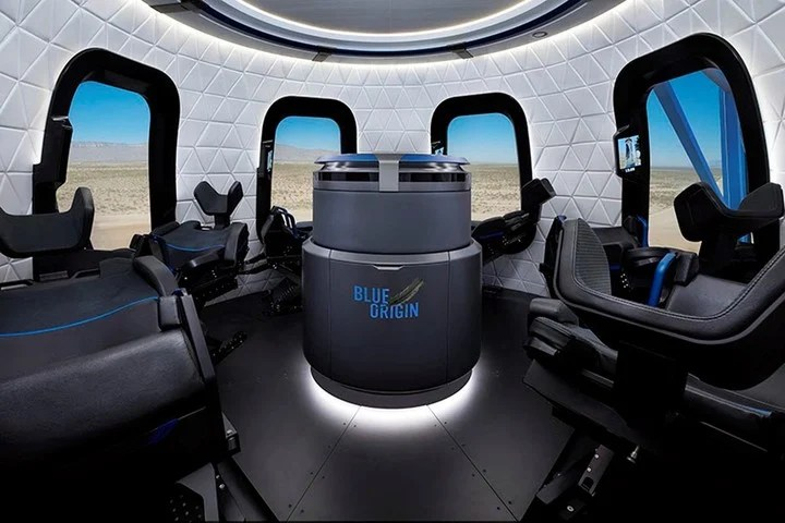 The six seats that the New Shepard incorporates, which are 18 meters long.