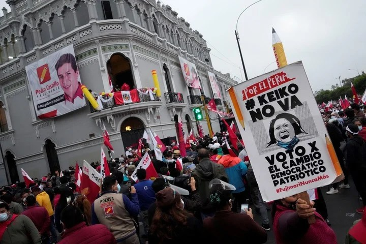Pedro Castillo benefited from the rejection generated by Keiko Fujimori.  AP Photo