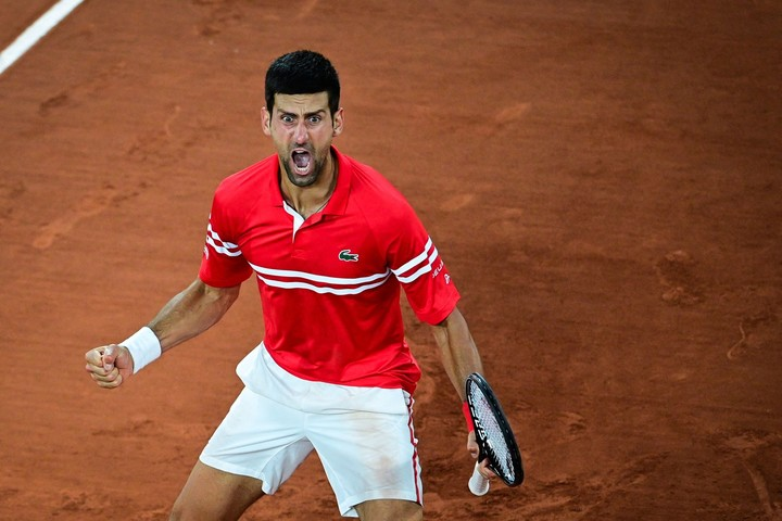 It took Djokovic three and a half hours and a lot of work to beat Berrettini in the quarterfinals.  Photo MARTIN BUREAU / AFP