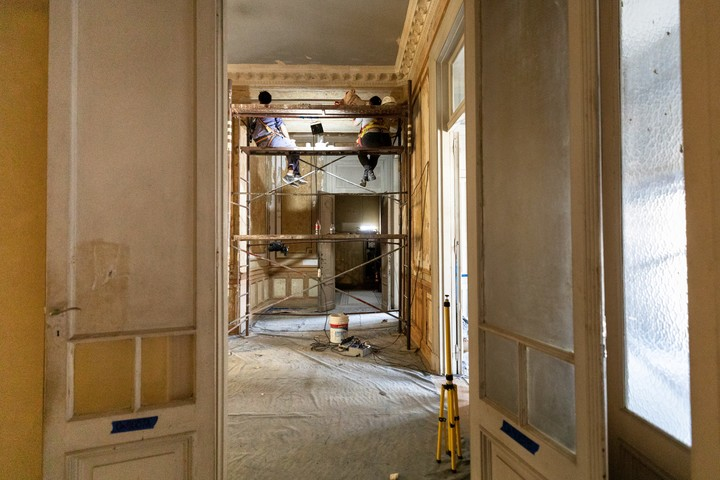 The recovery of the rest of the building does not yet have a work completion date.