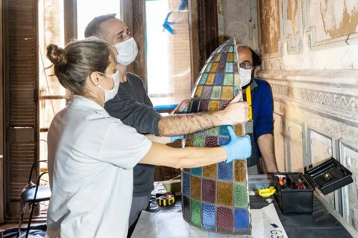 The restoration of the Confitería del Molino will be completed by the end of the year.