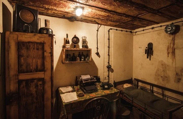 Commander's room inside the bunker.  Photo: Dutch Gazette.