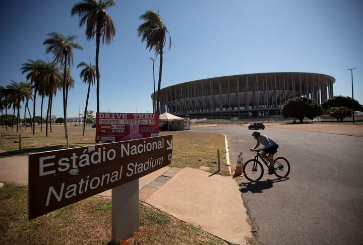 Mané Garrincha Stadium, one of the four venues for the Copa América 2021, in Brasilia.  Photo EFE