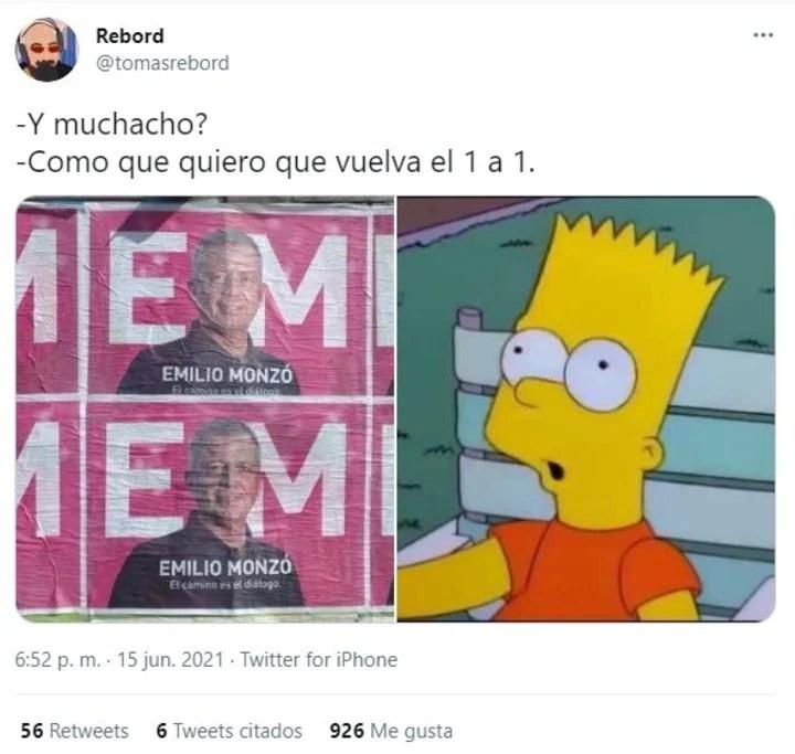 Jokes about Emilio Monzó's posters.