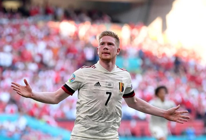 Belgian star Kevin De Bruyne used AI to assess whether he was staying with his club.  Photo Reuters-
