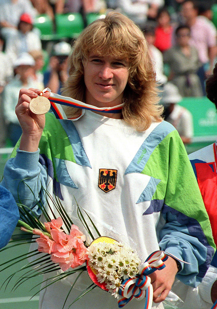 Steffi Graf won gold at Seoul 1988 and completed the first - and so far only - Golden Slam in tennis history.  AFP photo