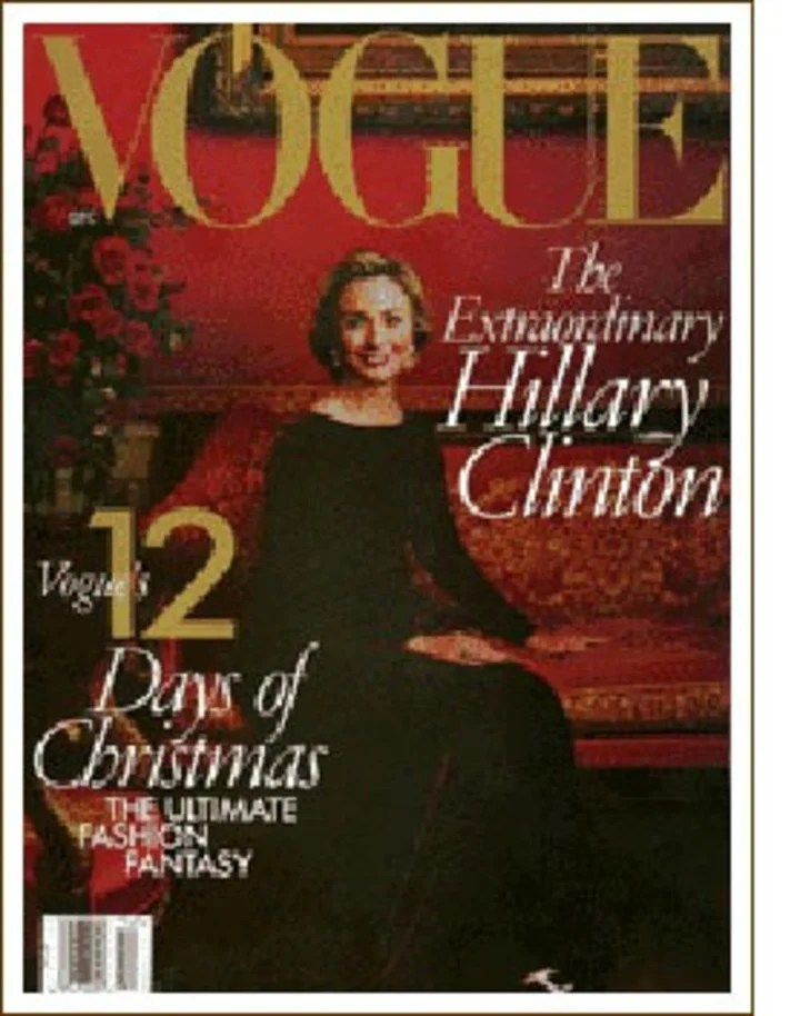 Hillary Clinton on the cover of Vogue