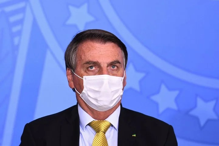 Jair Bolsonaro, in the middle of another controversy.  AFP photo