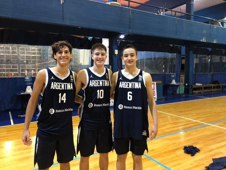 Lucas Fresno, first from left, is a regular on the youth basketball teams.  Instagram photo