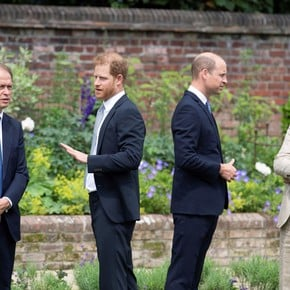 Princes William and Harry gather to unveil Lady Di's statue on the 60th anniversary of her birth