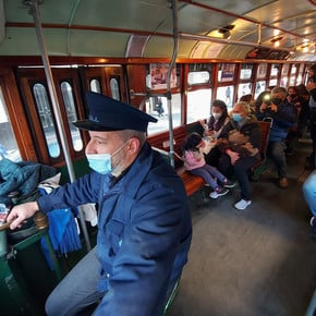 In photos: the historic Caballito tram resumed its rides