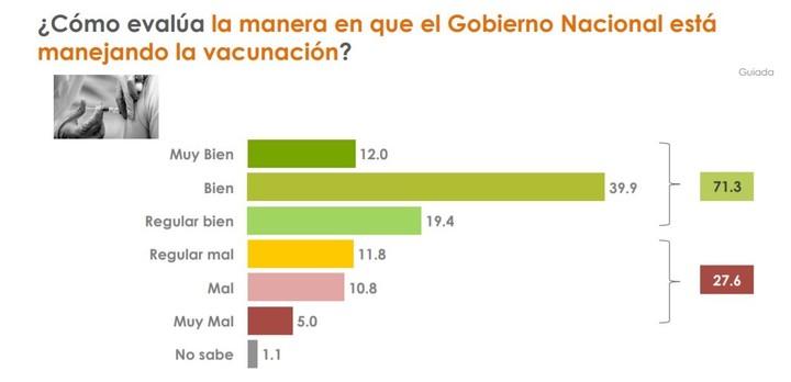 Survey of Analía del Franco in Greater Buenos Aires.  The vaccination plan.