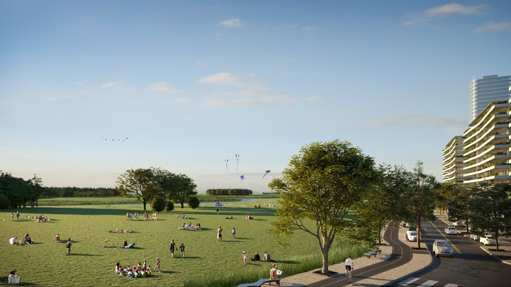 The park of the future urbanization will better connect the city with the Río de la Plata.