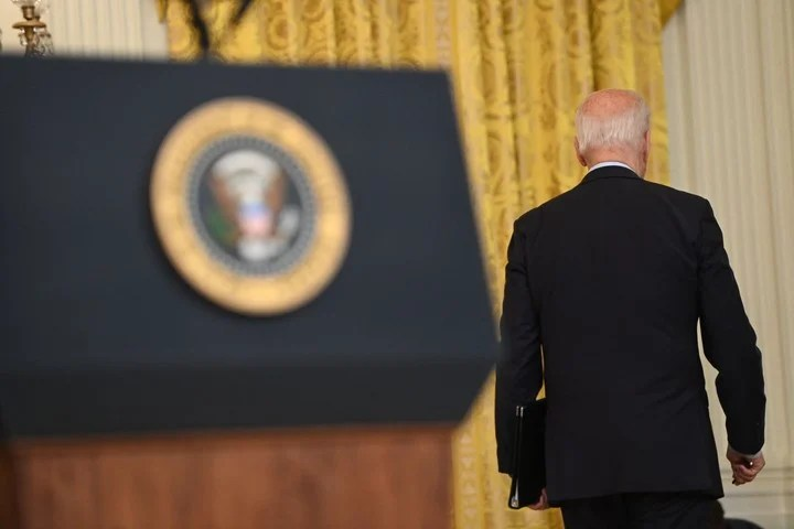 The president of the United States made the announcement at the White House (Photo by SAUL LOEB / AFP)