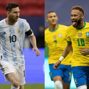 Messi and Neymar, chosen by Conmebol as the best in the Copa América