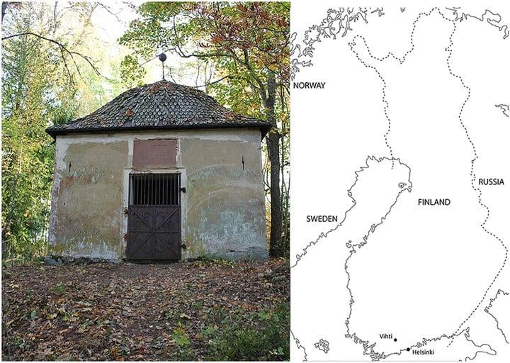 La capilla en donde hicieron el hallazgo se encuentra en Vihti, en el sur de Finlandia. Foto: International Journal of Osteoarchaeology