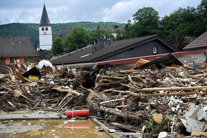 The village of Schuld was destroyed.  Photo: EFE