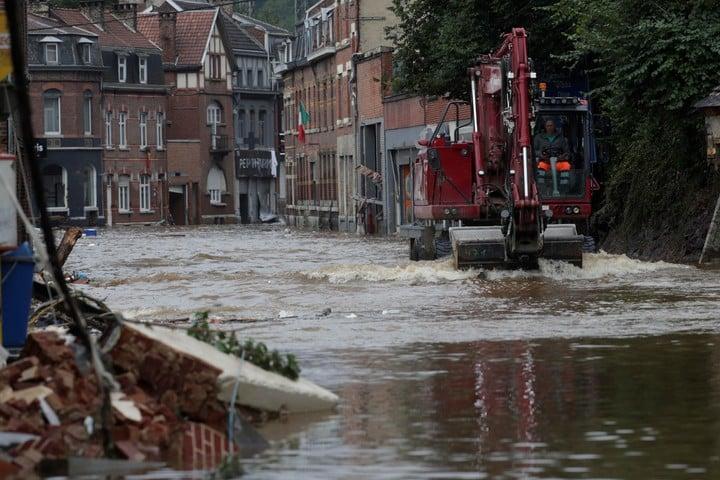 Flooded villages in Belgium.  Photo: EFE