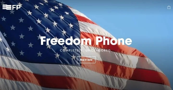 Freedom Phone, Finman's project.  Photo freedomphone.com