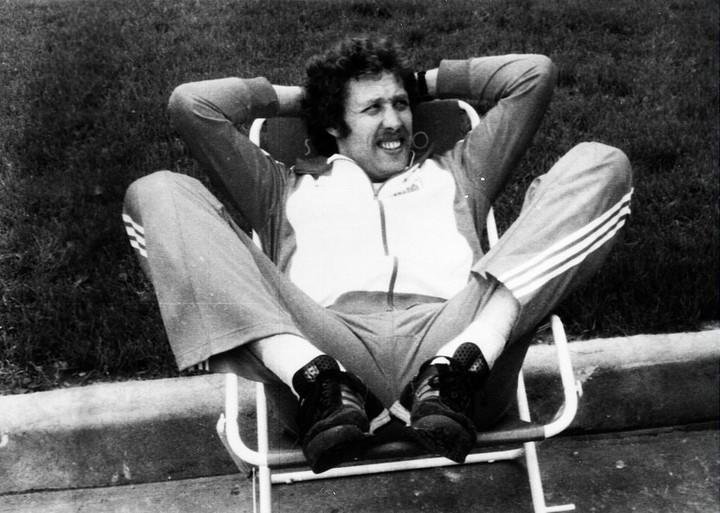 Kozakiewicz lounging true to form.  Photo: PAP