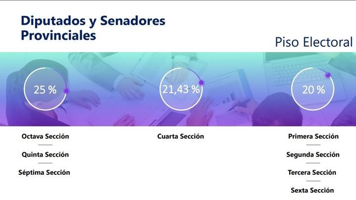 Electoral floor of Provincial Deputies and Senators.
