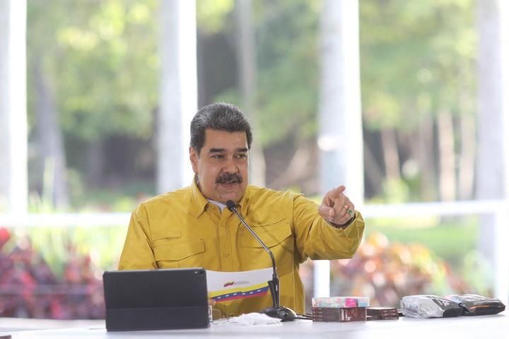 Nicolás Maduro had his Facebook account suspended for a month.  Photo Presidency of Venezuela / AFP