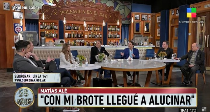 """In """"Controversy at the Bar"""" They discussed the issue of Chano's health and Matías Alé gave his testimony.  Capture TV"""