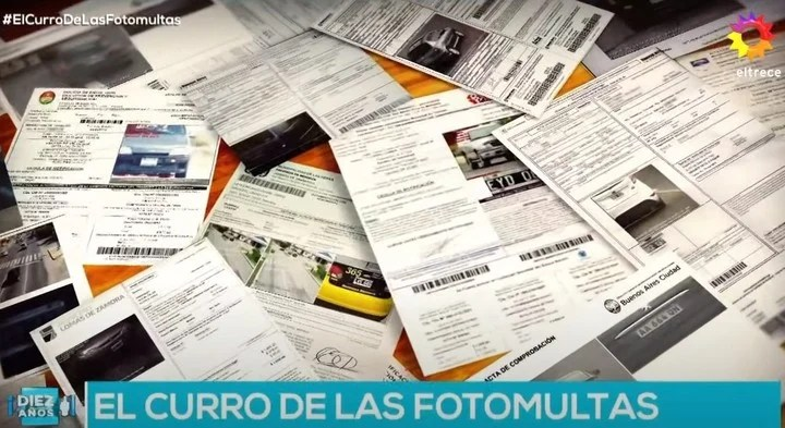 Jorge Lanata's report on photomultas.  Photo Capture eltrece