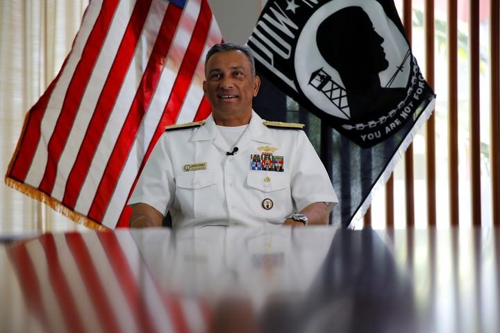 Rear Admiral Darius Banaji, deputy director of the agency.  AP Photo