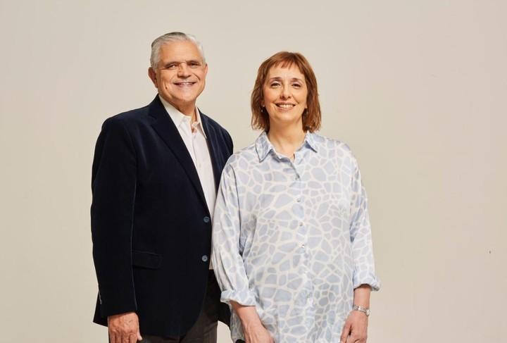 Ricardo López Murphy with Sandra Pitta.  Both aspire to get a bench.