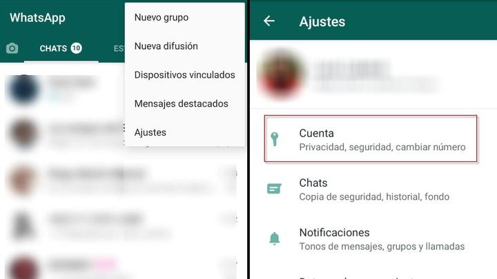 Two-step verification on WhatsApp.