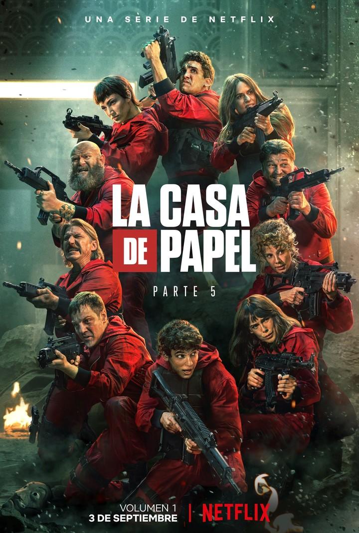 The official poster of La Casa de Papel 5, volume one (Netflix).
