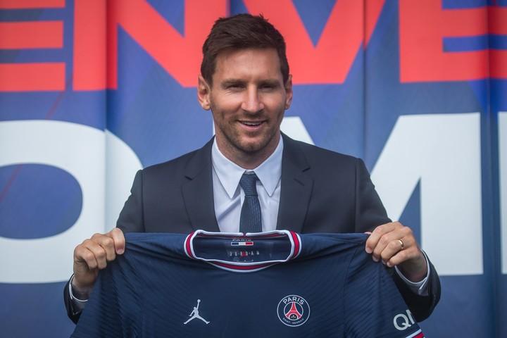 Lionel Messi, presented at PSG.  Photo EFE