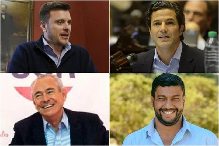Rodrigo López Molina, Luciano Laspina, Mario Barletta and Gabriel Chumpitaz, pre-candidates for deputies of Together for Change in Santa Fe.