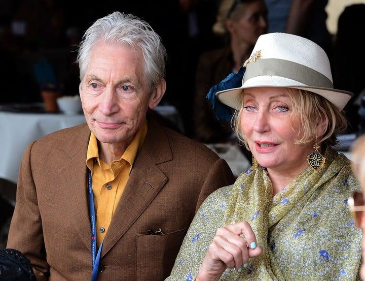 Charlie Watts married Shirley in 1964. Photo JANEK SKARZYNSKI / AFP)