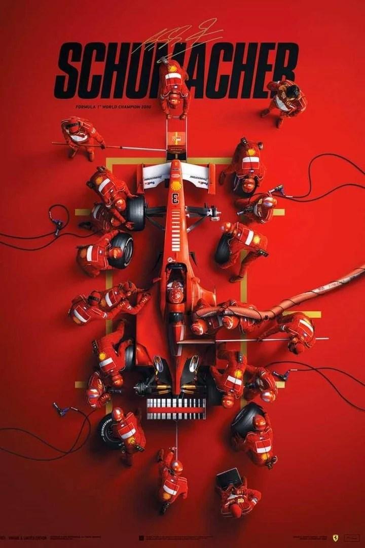 """El afiche de """"Schumacher""""."""