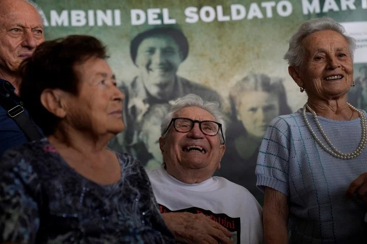 Giuliana Naldi, the youngest, is the only one of the three who remembers the event.  Photo: AP