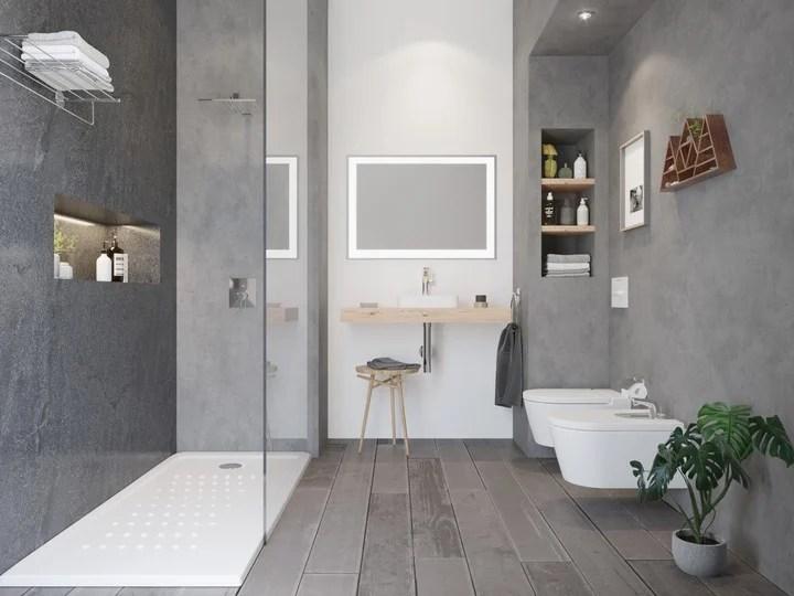 Neo Daiquiri (Roca) shower tray made of 40 mm thick acrylic.