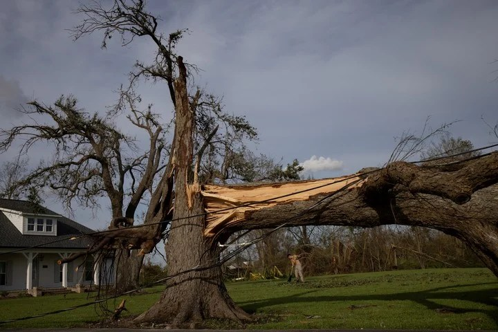 The hurricane caused serious damage in the southeastern US state.  Photo Adrees Latif / Reuters
