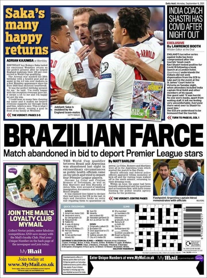 Tapa del Daily Mail