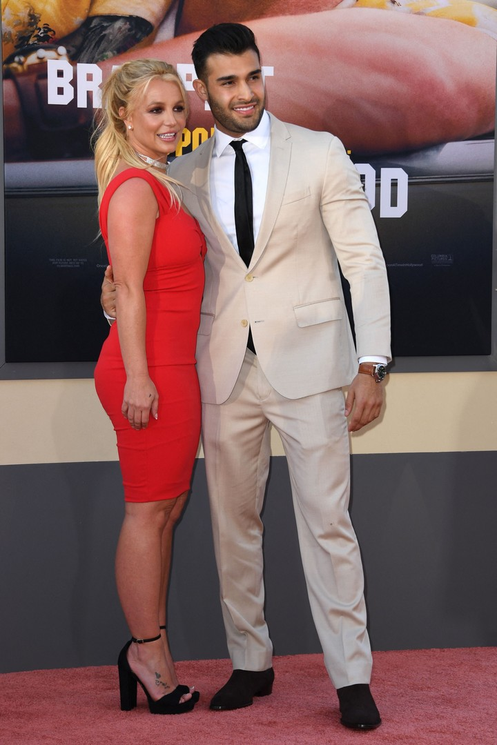 Britney announced that she is getting married to her partner, Sam Asghari.  Photo: AFP