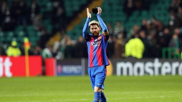 Lionel Messi, en Glasgow, tras la victoria ante Celtic y sus nuevos récords. (EFE)