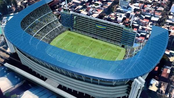 Bombonera. El rediseño de la cancha de Boca Juniors.