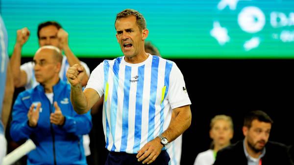 Orsanic, festejando uno de los puntos argentinos en la final ante Croacia. (Germán García Adrasti)