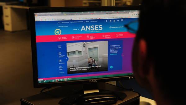 Página de la ANSES (Juan Manuel Foglia)