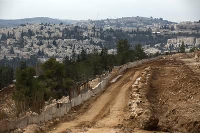 Vista general del asentamiento israelí de Ramat Shlomo, sobre territorio palestino. (EFE)
